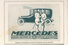 MERCEDES.Ausst.+Verka. Anzeigenwerbung 1917