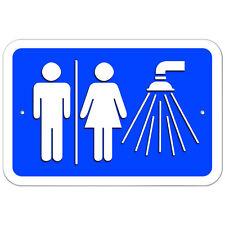 Plastic Sign Unisex Shower