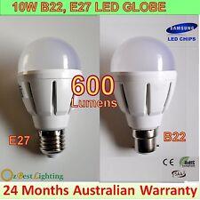 5 x 10W 240V B22 / E27 LED Light Bulb Energy Saving Globe - 2 Yrs Warranty