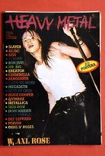Guns N'Roses On Cover Axl Rose 1991 Heavy Metal Exyu Magazine