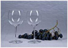 Set di due Bicchiere da vino Cristal d'Arques BIANCO rosso vetro NUOVO