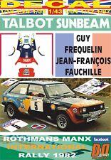 DECAL TALBOT SUNBEAM LOTUS G.FREQUELIN MANX R. 1982 DnF (09)