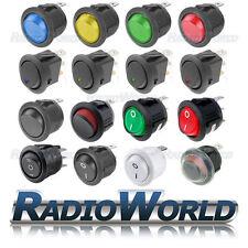 On / off interrupteur voiture LED ronde lumineux Tableau De Bord Dash bateau imperméable