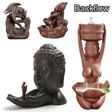 Waterfall Backflow Ceramic Incense Burner Cone Holder Censer Buddhism Home Decor