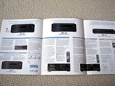 Nakamichi MB-10 CD player, AV / RE receivers brochure