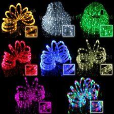 LED Lichterschlauch Lichtschlauch 6m 12 Farben blinkend wählbar Partybeleuchtung