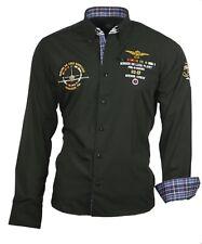 Hemd Herrenhemd Herren Hemden Shirt bestickt schwarz Binder de Luxe 82101
