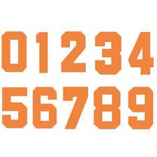 Iron-On Heatpress Orange Number Football Baseball Clothes Sports T-Shirt DIY