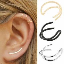 1pc Ear Clip Cuff Wrap Cross Leaf Fake Earring Stud Hoop Non Piercing Cartilage