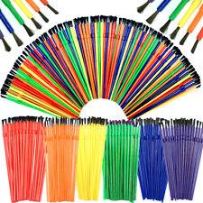 Kids Paint Brush Set Bulk Kids Brushes 6 Rainbow Colours Kids Craft Brushes
