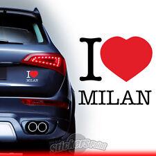 adesivo I LOVE MILAN stickers PVC auto squadre calcio serie A