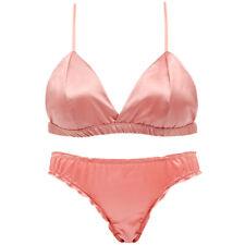 4 Colors Women Bras Set Triangle Brassiere Wireless Lingerie Sexy Bralette Panty