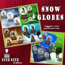 Digital Scrapbook Snow Globes