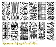 Konturensticker, Konturensticker Buchstaben, Stickerbogen, Scrapbooking Sticker