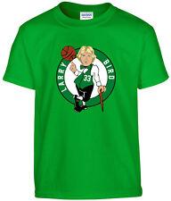 "GREEN Larry Bird Boston Celtics ""LOGO"" T-shirt Shirt or Long Sleeve"