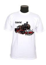 tee shirt enfant garçon locomotive train personnalisé prénom réf 100