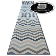 Modern Soft Anti-skid Runner Aw Sky Blue Zigzag Width 67,80 cm Carpet