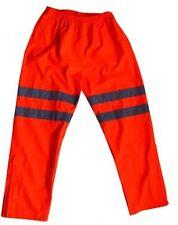 Hi Vis Viz Visibility Work Wear Safety Over Waterproof Highway Railway Trousers