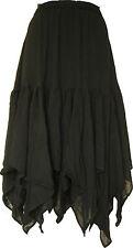 Women Pirate Renaissance Casual Skirt Medieval Black Caribbean Costume Wear