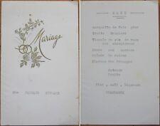 1950 French Wedding Menu: Barquette Foie Gras/Champagne