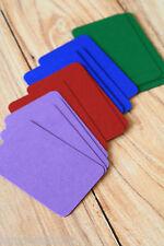 Intense couleurs cartes de visite 50pc Blanc Mariage ATC Craft À faire soi-même Nom Place Cards