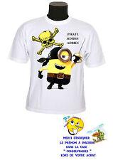 tee shirt enfant minion pirate personnalisable prénom réf 144