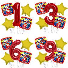 Super Hero Girls 1-9 Birthday Balloon Bouquet 5 pcs Girls Birthday Party