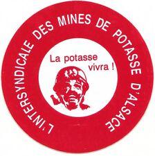 MINES DE POTASSE D'ALSACE AUTOCOLLANT INTERSYNDICALE