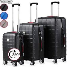 Monzana® Kofferset 3tlg Trolley Reisekoffer Hartschale M L XL Koffer Rollen Case