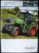Fendt Traktoren 200er Vario (V / F / P) Prospekt