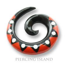 4- 12mm Dehnungssichel Spirale Sichel Horn Flesh Tunnel Plug Ohr Piercing 265