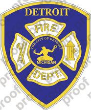 STICKER DETROIT FIRE DEPARTMENT
