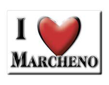 CALAMITA LOMBARDIA ITALIA FRIDGE MAGNET MAGNETE SOUVENIR I LOVE MARCHENO (BS)
