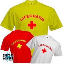 LIFEGUARD-T shirt, Nuoto, COSTUME, BAYWATCH, Divertente, raffreddare, qualità, NUOVO