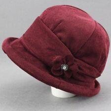 c0e8e856cfa Women Lady Corduroy Floral Bucket Hat Bush Cap Fishing Casual Vintage Solid  Chic