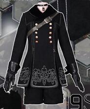 NieR Automata 9S Black Unifrom Anime Cosplay Costume Full set Glove Bag Fashion