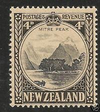 New Zealand SG #583c VF MNH 1941 4d Mitre Peak Perf 14