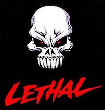 LETHAL EVIL BAD SCAREY SKULL BLOOD SKELETON HALLOWEEN T-SHIRT  ET032