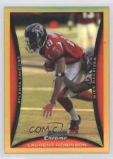 2008 Bowman Chrome Gold Refractor #BC184 Laurent Robinson Atlanta Falcons Card