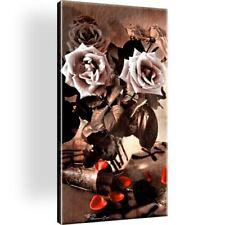 Sepia Rosen Blumen Bild Bilder Leinwand Keilrahmen Wandbild Kunstdruck