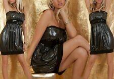 Sexy Miss señora mini vestido cinturón S/M 34/36 M/L 36/38 negro metálico plateado