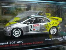 Peugeot 307 wrc rallye tu Limousin 2008 #1 Bengue yacco IXO ALTAYA 1:43