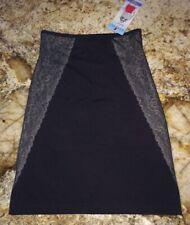 NEW Womens Sz S M L ASSETS SPANX Luxe Lean Half Slip Super Control BLACK Skirt