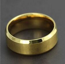 Anillo de titanio de oro para hombre Talla UK Size Z