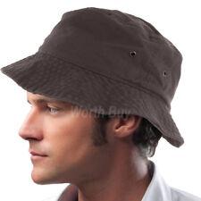 Bucket Hat Fishing Boonie Brim Visor Sun Summer Mens Womens Camping Dark Brown