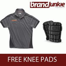 SCRUFFS GRAPHITE ACTIVE PRO ZIP POLO Hardwearing Work Shirt + FREE KNEE PADS