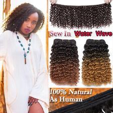 AAA Curly Kinky Deep Wave 1 Bundle Thick Afro As Human Hair Brazilian Weft 90g