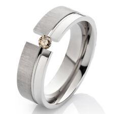 Verlobungsring Ehering mit einem 0,08ct. Diamant Trauring aus Titan TLB26D