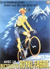 VINTAGE ROYAL TESSUTO francese Mountain Bike Pubblicità Poster A4/A3/A2/A1 stampa