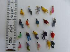100 Figuren zu Spur H0 stehend + 100 Figuren H0 sitzend 1:87 NEU Konvolut Set